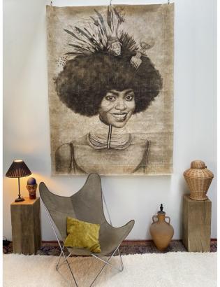 Panneau papier froissé GATIBE-ETHIOPIE 395,00€ - Maison Nomad - Tours